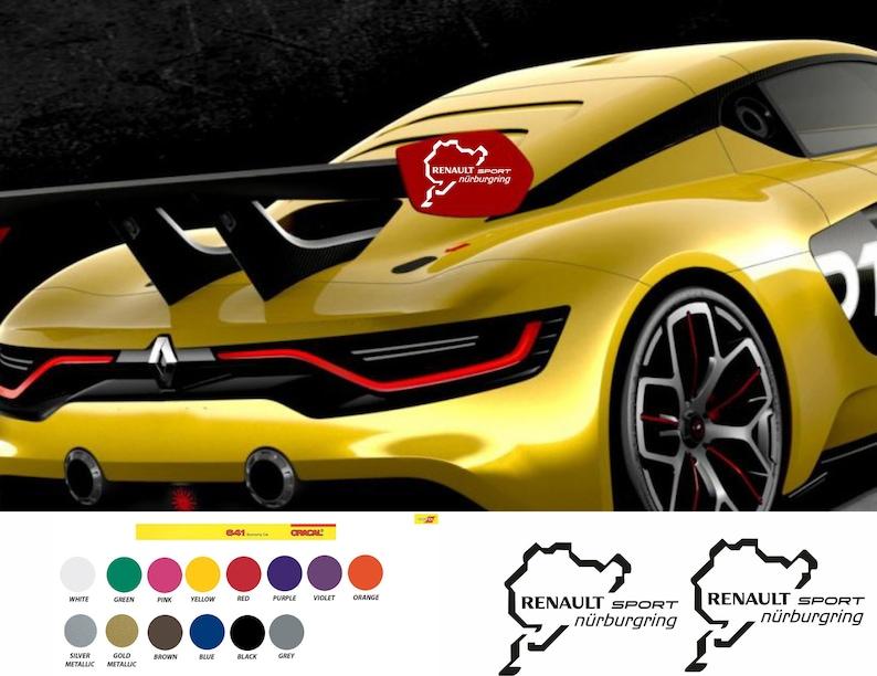 Renault Sport Nürburgring Aufkleber Sticker Rs Megane Clio Racing F1