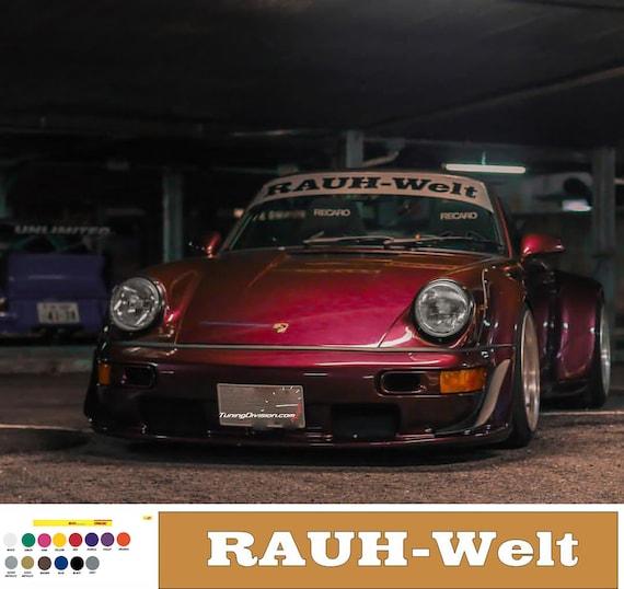RAUH Welt Sticker Porsche 911 Carrera C2 911 Carrera C4S All RWB RAUH-Welt decal
