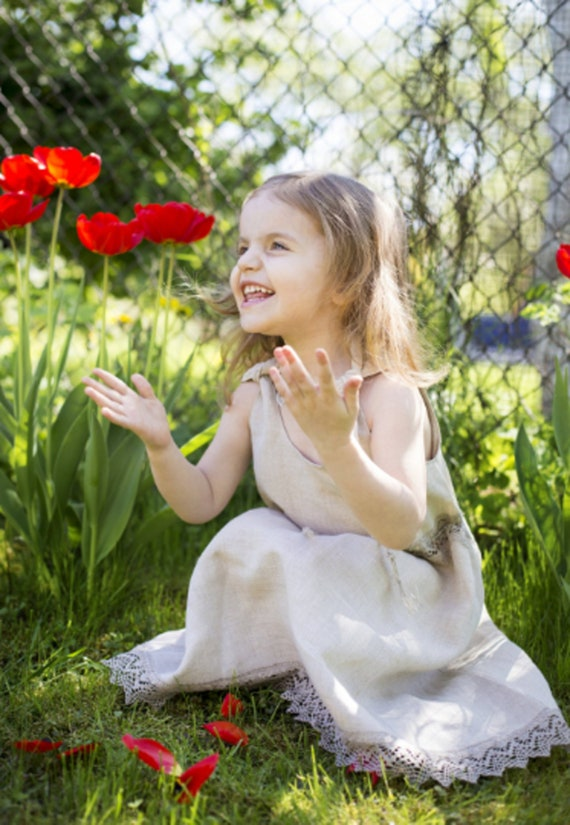 9a47afe05 Cute summer dress for little girl sleeveless children   Etsy