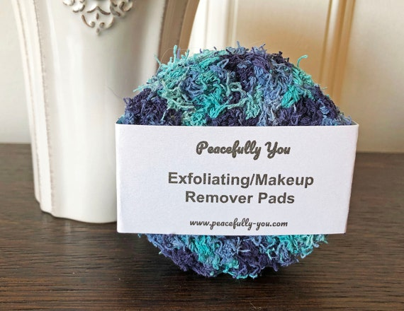 Handmade Cotton Face Scrub Pads Set of 3 Made in USA
