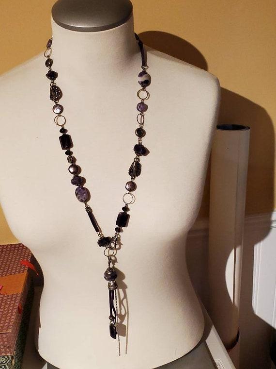 Natural Black Tourmaline Prism Stone with Chakra Stones on Silver Pendant with Silver Rope Chain 925 Protection from Negative Energy Amulet