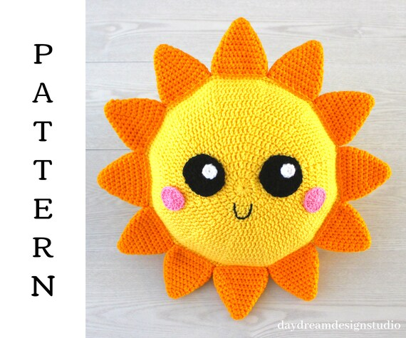 CROCHET PATTERN in English - Mr. Sunshine - 6.3 in./16 cm. tall ... | 475x570