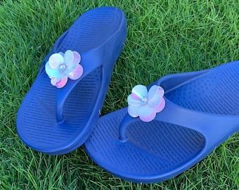 eb3eb9fdd Blue flip™ Rockstar - Pali Hawaii Sandals--Sequin Flower Flipflops
