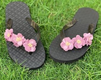449dfd228eba5 Lavender Blossoms Hawaiian Flip Flops--Decorated Women Sandals