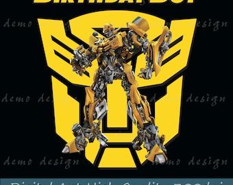 Birthday Boy bumblebee png, bumblebee vector, bumblebee face, bumblebee, clipart,transformers,superhero, robot vector, autobot