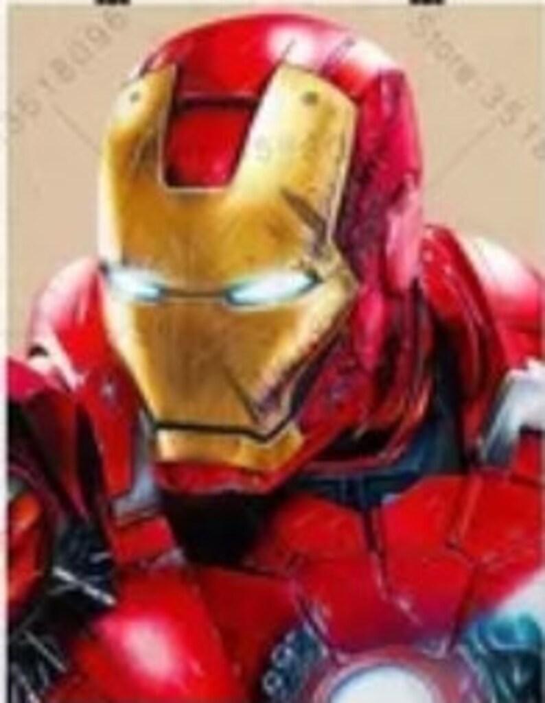 Round Full Square Drill  Bead Iron Man DIY Diamond Painting Kit 12  x 16  inches