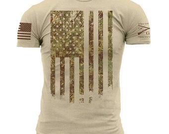 b2054756 Grunt Style Outdoors Camo Flag Men's T-Shirt