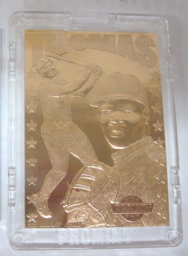 Frank Thomas Promint 22k Gold Card