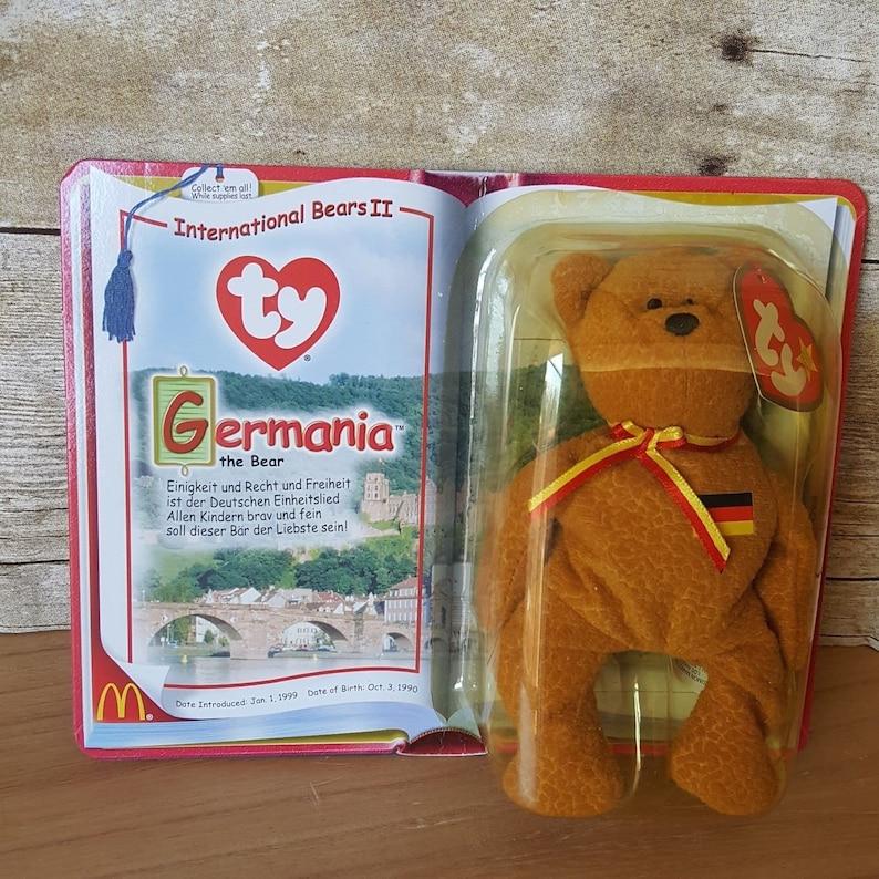 398b1b4c3c6 Ty Germania the Bear Teenie Beanie Baby McDonald s