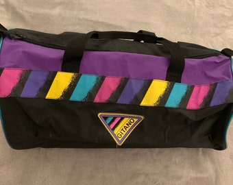 7aad739087 Vintage 80 s Retro Gitano Workout Bag