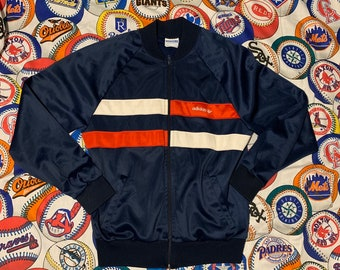 d7b0f5fd60857a 80's Vintage Adidas Track Jacket Made In USA
