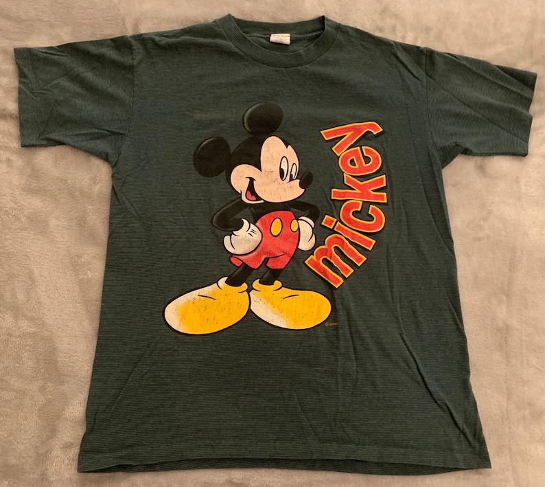 4888086cc Vintage Single Stitch Disney Mickey Mouse T-Shirt | Etsy