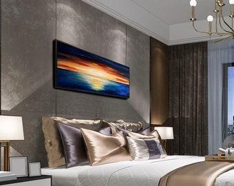 Sunset Sea - Original Oil Painting, Sea Painting, Ocean Painting, Fine Art Painting, Wall Art Decor