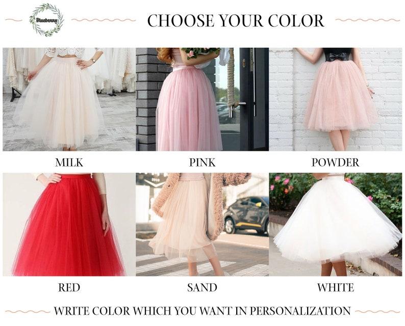 White wedding tutu skirt with layers