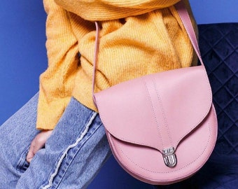 SALE! Pink leather bag c7147e188a697