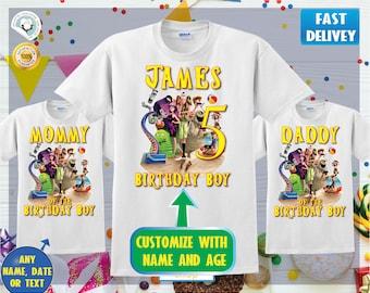 NEW Hotel Transylvania 3 Movie 2018 Personalized Birthday Party Gift T-Shirt