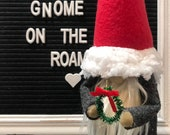 Rae Dunn Gnomes, Santa gnome, Swedish Holiday Gnomes, tiered tray decor, Nisse Scandinavian Gnome