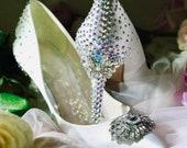 Crystal Bridal Wedding Shoes Jenny Packham No1 UK size 3
