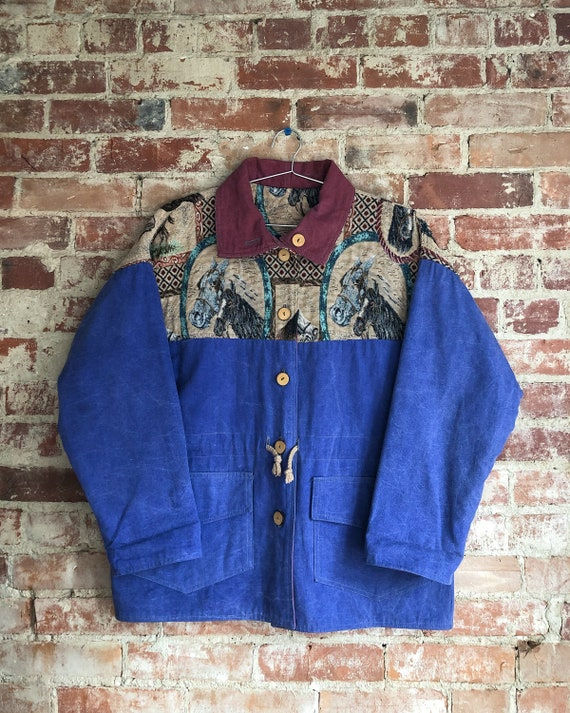 Berry Ellen Tapestry Jacket | Horse Western Print