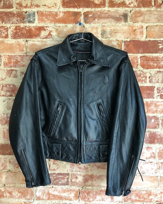 90s Biker Jacket | Vintage Leather Moto Jacket | V