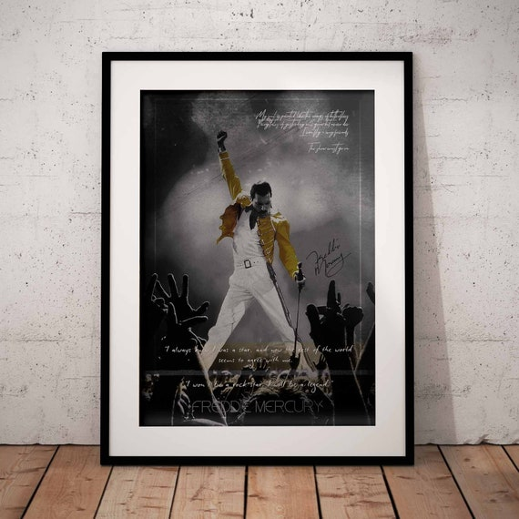 Queen Bohemian Rhapsody Fan Present Lyrics Printed On A4 Original Art