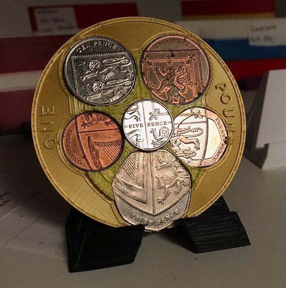 British Coins Display, Shield Design