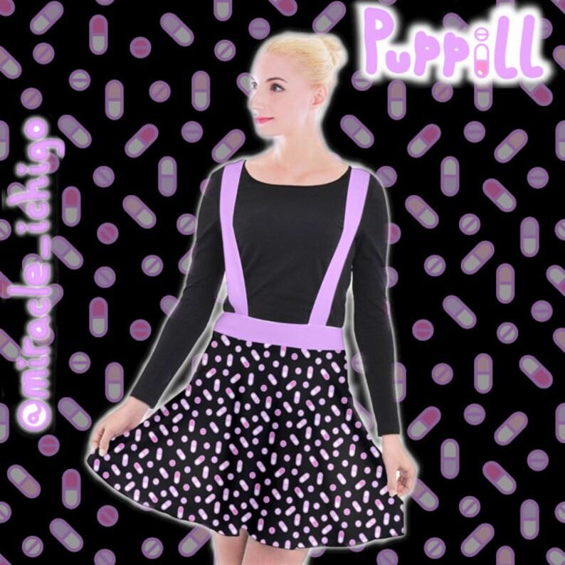 Puppill Pills Pastel Suspender Skirt Yamikawa Menhera Medikawaii Pastel Yume Kawaii Pastel Goth Harajuku