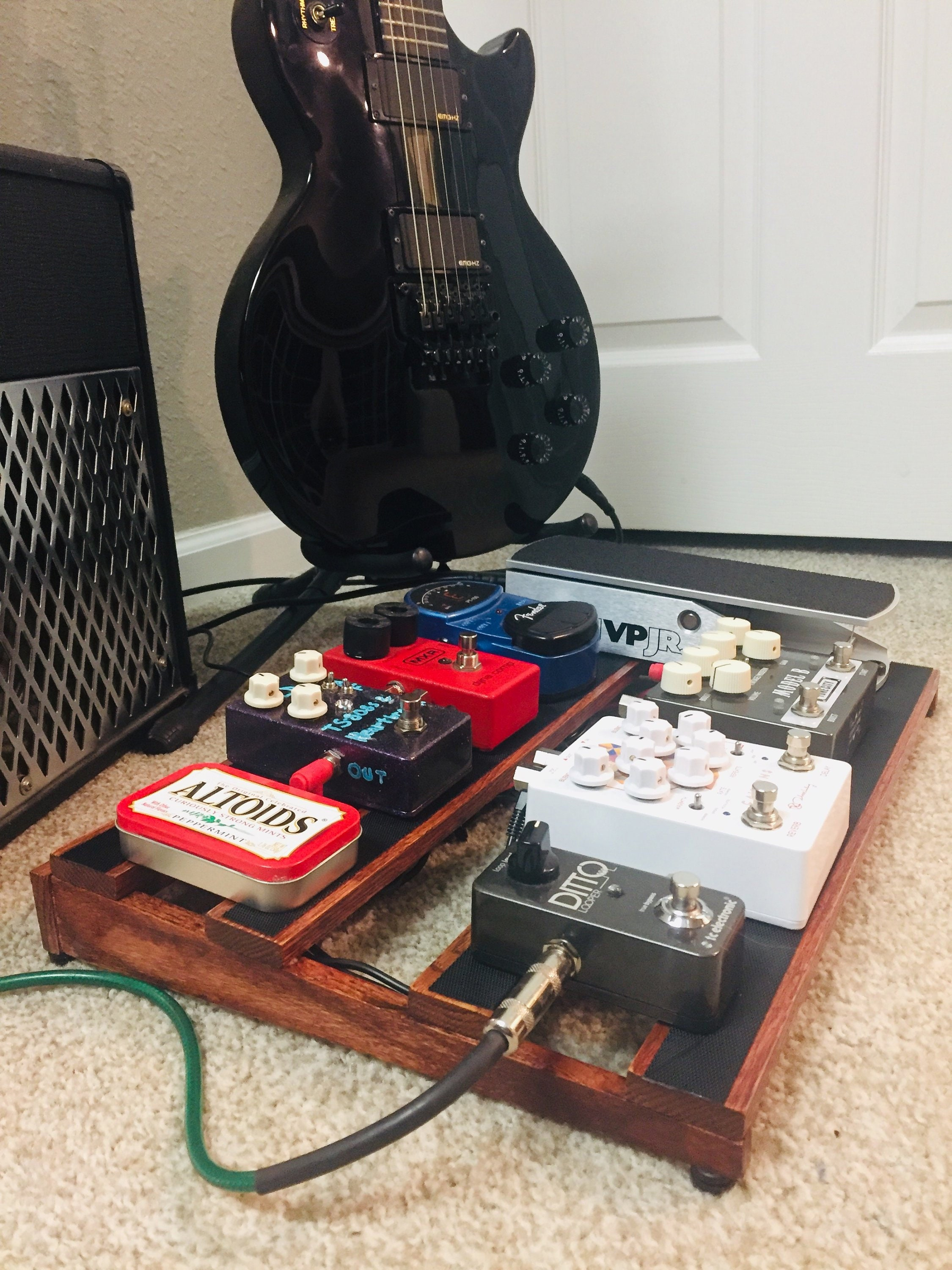 beautiful handmade wooden guitar pedal board etsy. Black Bedroom Furniture Sets. Home Design Ideas