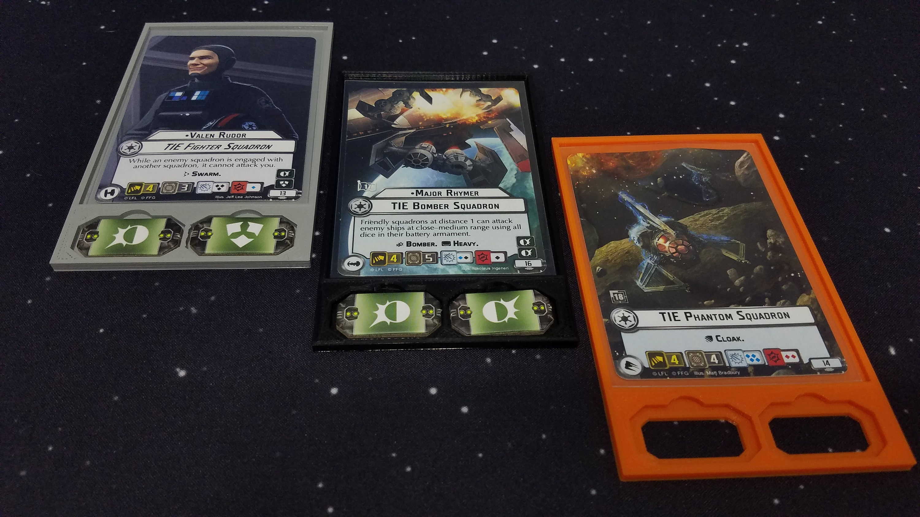 Squadron Tray, Star Wars Armada Compatible, Command Card Tray, sleeved  cards, unsleeved cards