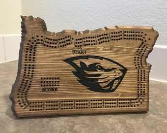 Oregon State Cribbage Board (Oregon State University Logo)