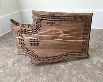 WA Cribbage Board (Free Customization)