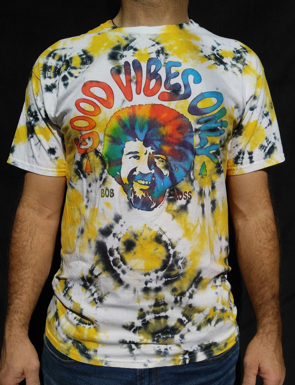 6df4aa3dc Bob Ross Good Vibes Only Tie Dye T-shirt Unisex Size Men's L 100% Cotton