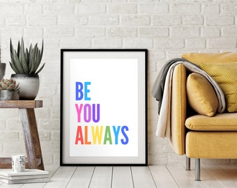 Positivity Print Positive Attitude Teen Girl Bedroom Decor Positive Pants Print Gift For Teenage Girl Or Daughter Motivational Wall Art