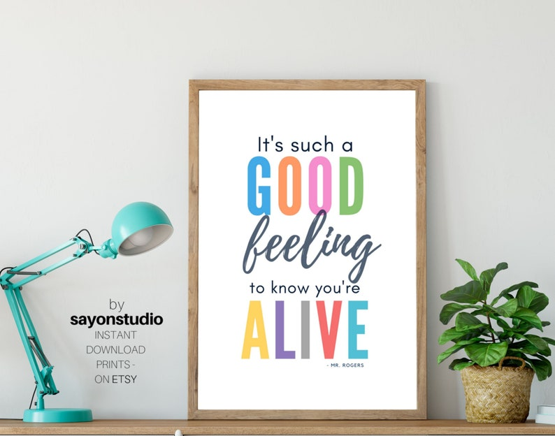 Mr Rogers Quote Mister Rogers Inspired Colorful Etsy