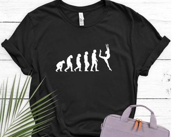 Unicycle Evolution T Shirt Mens Womens Present Top Funny Bike Circus Perform Act