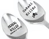 Cereal killer weapon of choice-killer lover-Halloween gift-Unique gift-set of 2 spoons-Cute Spoon