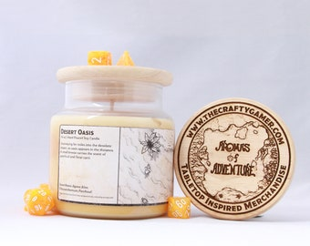 Desert Oasis | 16 oz. Soy Candle | Dungeons & Dragons | Pathfinder | Tabletop Inspired Candle