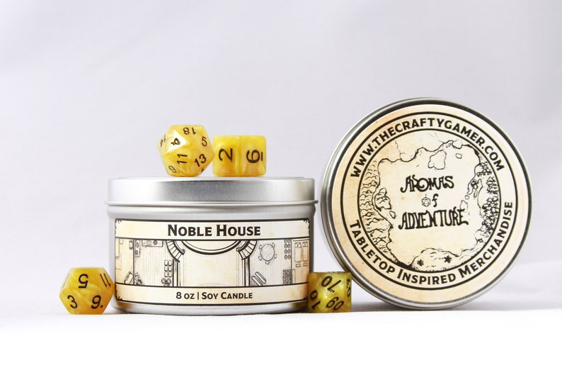 Pathfinder Dungeons /& Dragons Noble House Soy Candle 8 oz Tabletop Inspired Candle