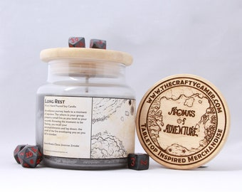 Long Rest | 16 oz. Soy Candle | Dungeons & Dragons | Pathfinder | Tabletop Inspired Candle