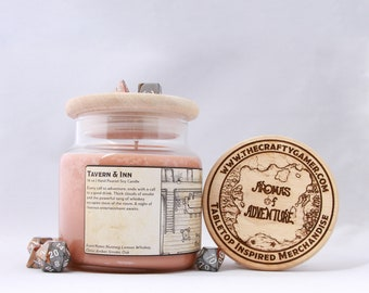 Tavern and Inn | 16 oz. Soy Candle | Dungeons & Dragons | Pathfinder | Tabletop Inspired Candle
