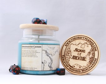 Underwater Cavern | 16 oz. Soy Candle | Dungeons & Dragons | Pathfinder | Tabletop Inspired Candle