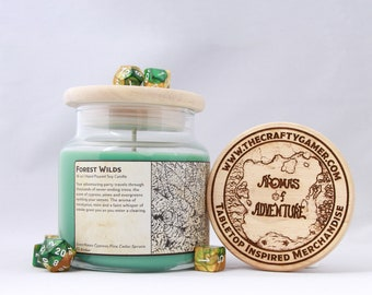 Forest Wilds | 16 oz. Soy Candle | Dungeons & Dragons | Pathfinder | Tabletop Inspired Candle