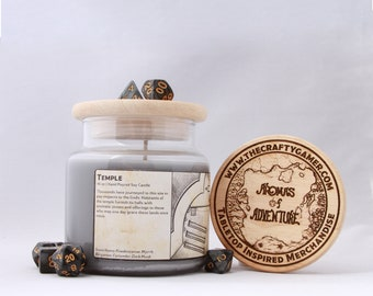 Temple | 16 oz. Soy Candle | Dungeons & Dragons | Pathfinder | Tabletop Inspired Candle