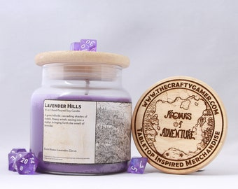 Lavender Hills | 16 oz. Soy Candle | Dungeons & Dragons | Pathfinder | Tabletop Inspired Candle