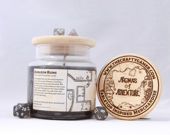 Dungeon Ruins | 16 oz. Soy Candle | Dungeons & Dragons | Pathfinder | Tabletop Inspired Candle