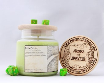 Open Fields | 16 oz. Soy Candle | Dungeons & Dragons | Pathfinder | Tabletop Inspired Candle