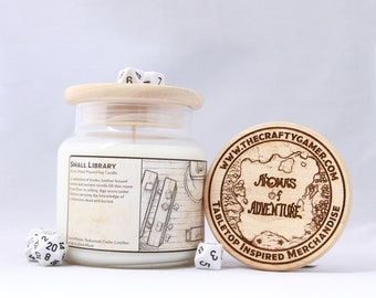 Small Library | 16 oz. Soy Candle | Dungeons & Dragons | Pathfinder | Tabletop Inspired Candle