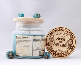 Seaside Harbor | 16 oz. Soy Candle | Dungeons & Dragons | Pathfinder | Tabletop Inspired Candle