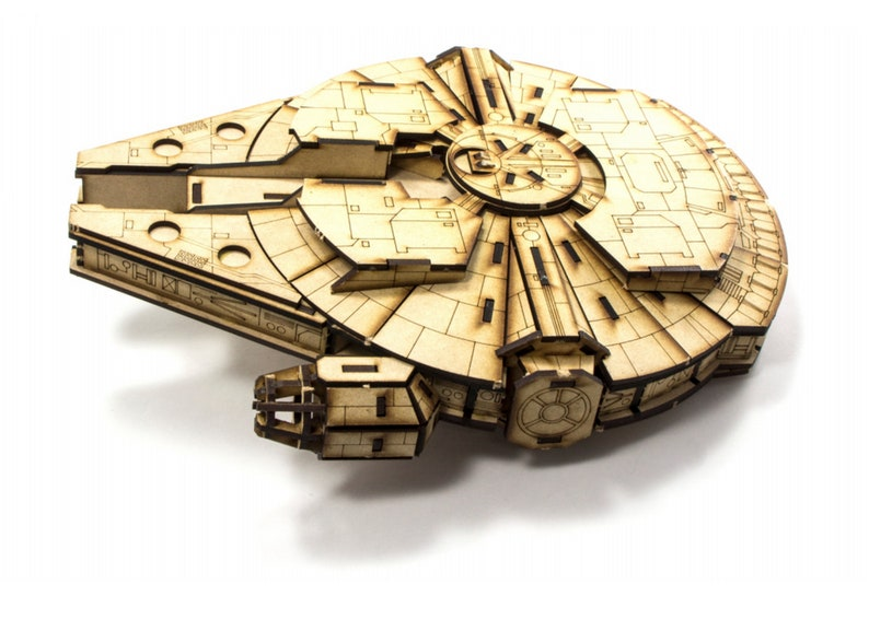 laser-cut model kit Cut files instructions Millennium falcon star wars