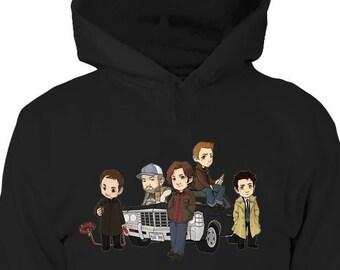 863097a4a526 Supernatural Hoodie - Supernatural Shirt - Winchester Brothers - Sam Dean -  Supernatural Ornament - Birthday Gift - Supernatural Gifts